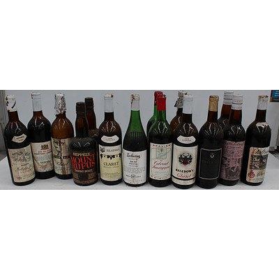 Vintage Bottles Wine and Port - Lot of 15