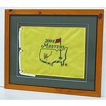 2004 US Masters Flag Signed By Peter Lonard