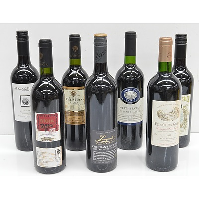 Seven Various Red Wines Including, Weathervane, Alkoomi, Langmeil, and More