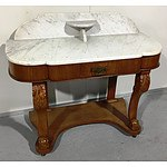 Victorian Mahogany and Marble Wash Stand