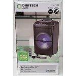 "DigiTech Audio CS-2492 Rechargable 12"" PA System w/ Wireless UHF Microphone - $249.00"