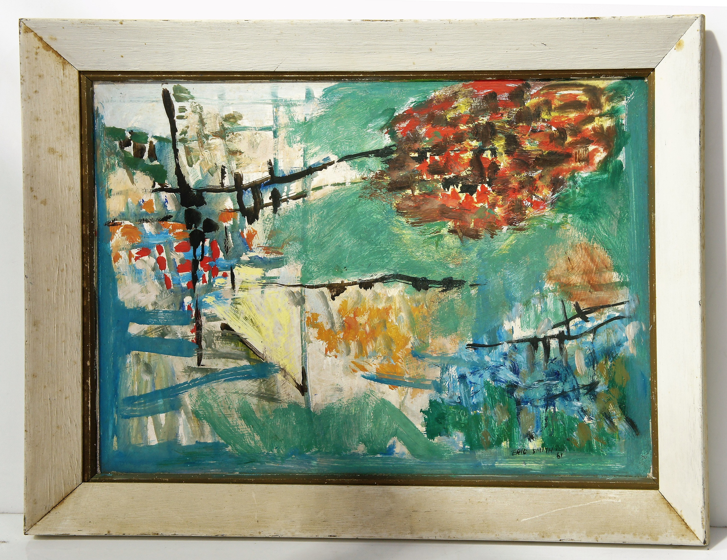 'Eric Smith (1919-2017) Untitled Landscape Oil on Board'