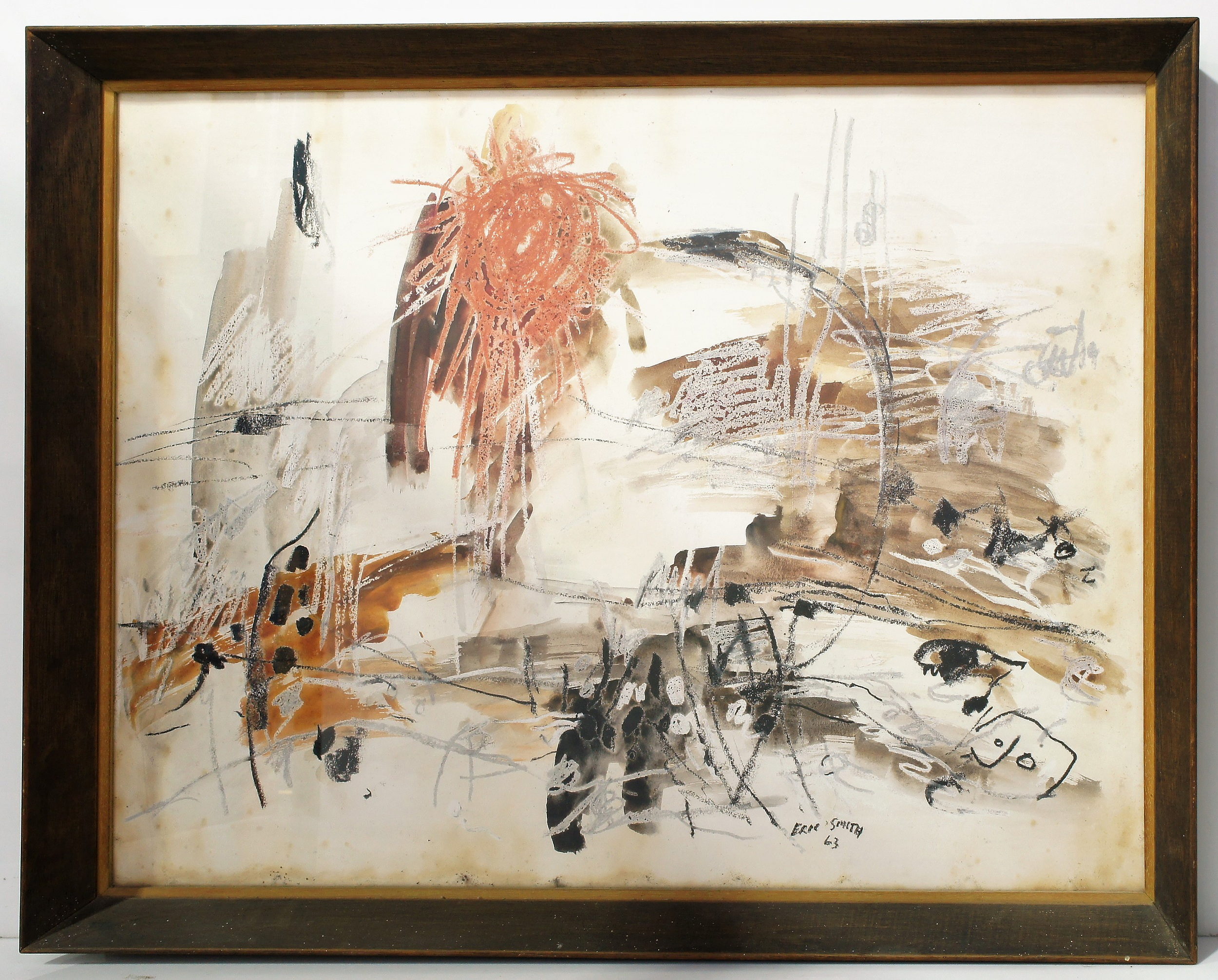 'Eric Smith (1919-2017) Untitled Mixed Media on Paper'