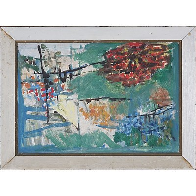 Eric Smith (1919-2017) Abstract Landscape Oil on Board