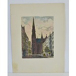 Antiquarian Hand Coloured Engravings of the Church in Berlin