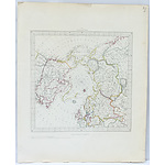 Antiquarian Hand Coloured Map Of The Circumjacent the North Pole Engraved by J & C Walker