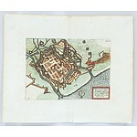 Antiquarian Hand Coloured Map Of Ostende