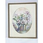 Cynthia Hundleby (1936-) Floral Still Life Watercolour