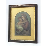 Antique Chromolithograph of the Virgin Mary and Child