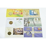 Six Collectable Coins and Stamp Covers