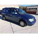 4/2003 Kia Carnival LS  4d Wagon Blue 2.5L