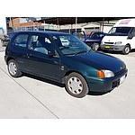 12/1998 Toyota Starlet LIFE EP91R 3d Hatchback Green 1.3L
