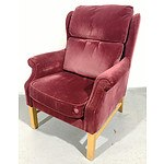 Parker Purple Velvet Armchair