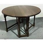 Vintage Oak Drop-Side Table