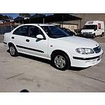 8/2000 Nissan Pulsar ST N16 4d Sedan White 1.8L
