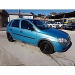 4/2001 Holden Barina  XC 5d Hatchback Blue 1.4L