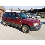 2/2004 Subaru Forester X MY04 4d Wagon Red 2.5L