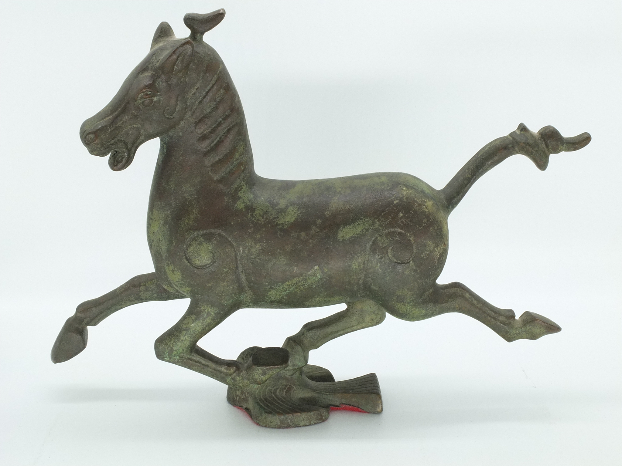 'Cast Bronze Han Style Flying Horse 20th Century'