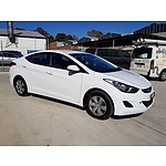 6/2011 Hyundai Elantra Active MD 4d Sedan White 1.8L