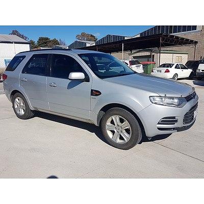 3/2011 Ford Territory TX (4x4) SZ 4d Wagon Silver 2.7L