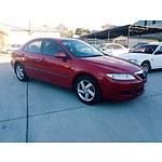 2/2005 Mazda Mazda6 Classic GG 5d Hatchback Red 2.3L