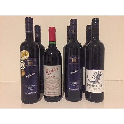 Shiraz Wine Package including a bottle of 1987 Penfolds Grange