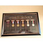 Framed Australian Medals Of Honour