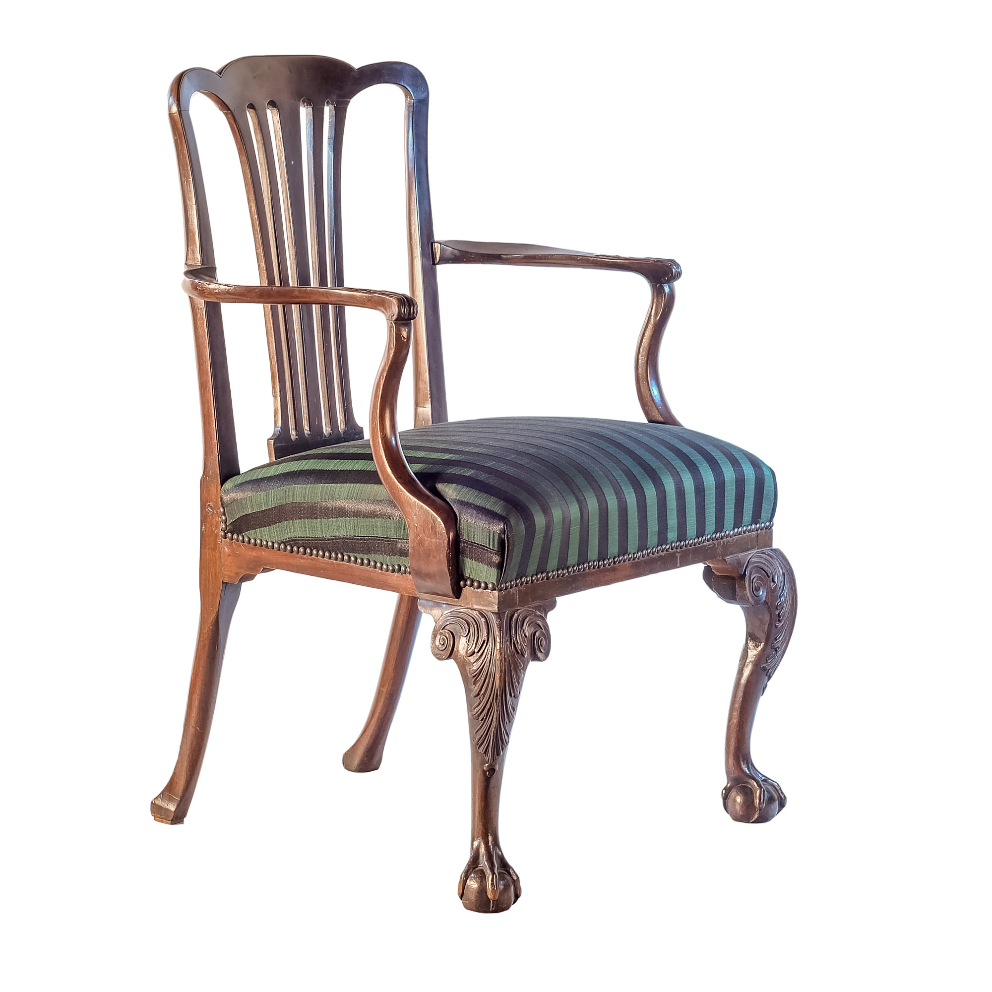 'Large Proportioned Chippendale Style Mahogany Elbow Chair 19th Century'