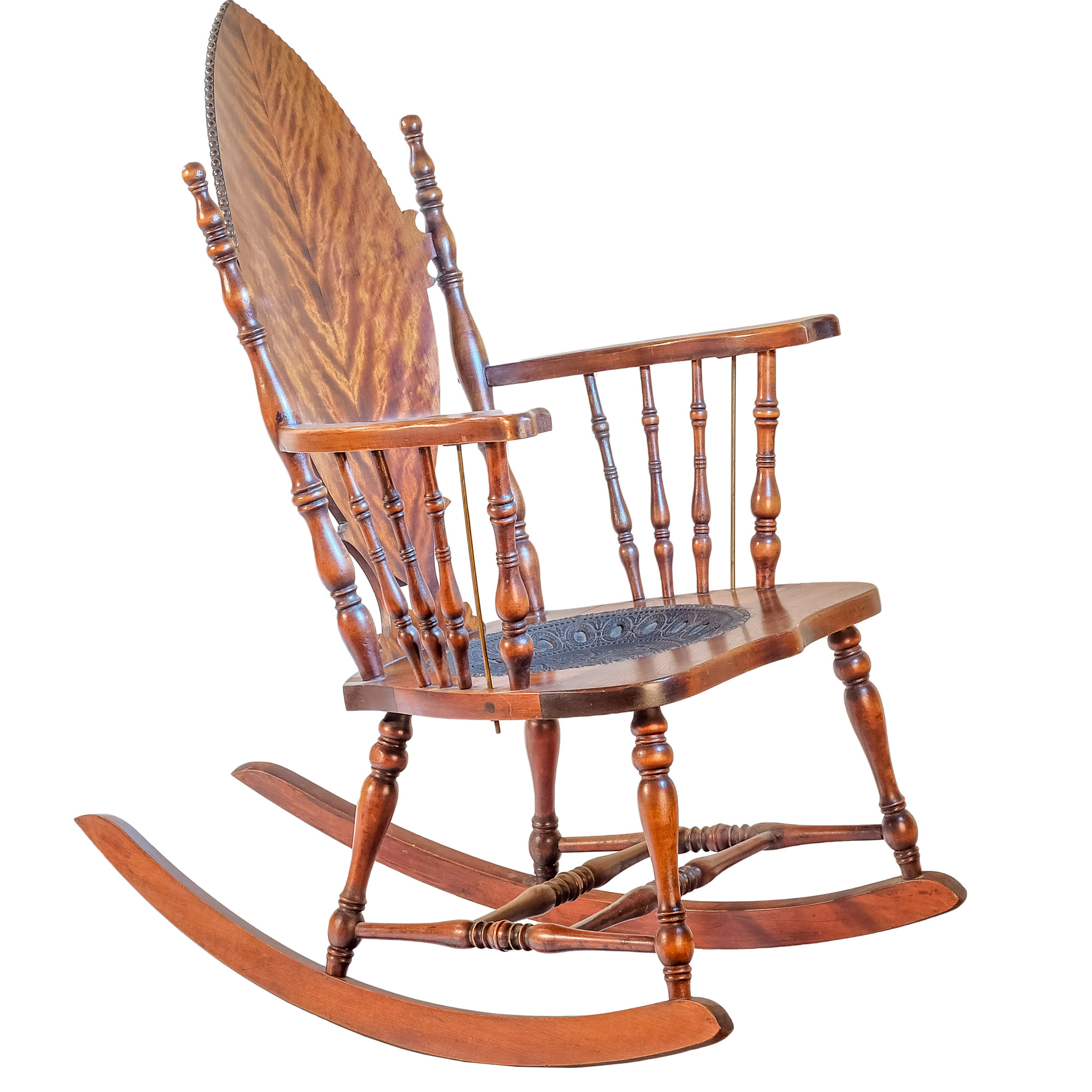 'American Maple Veneered Beech Rocking Chair Early 20th Century'