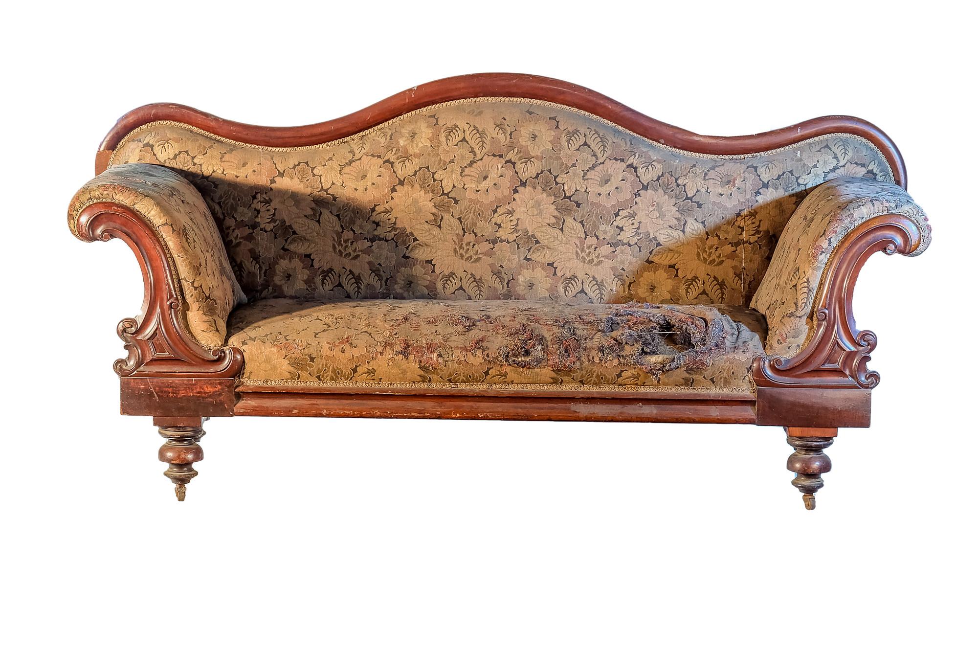 'Australian Cedar Serpentine Back Sofa Circa 1880'