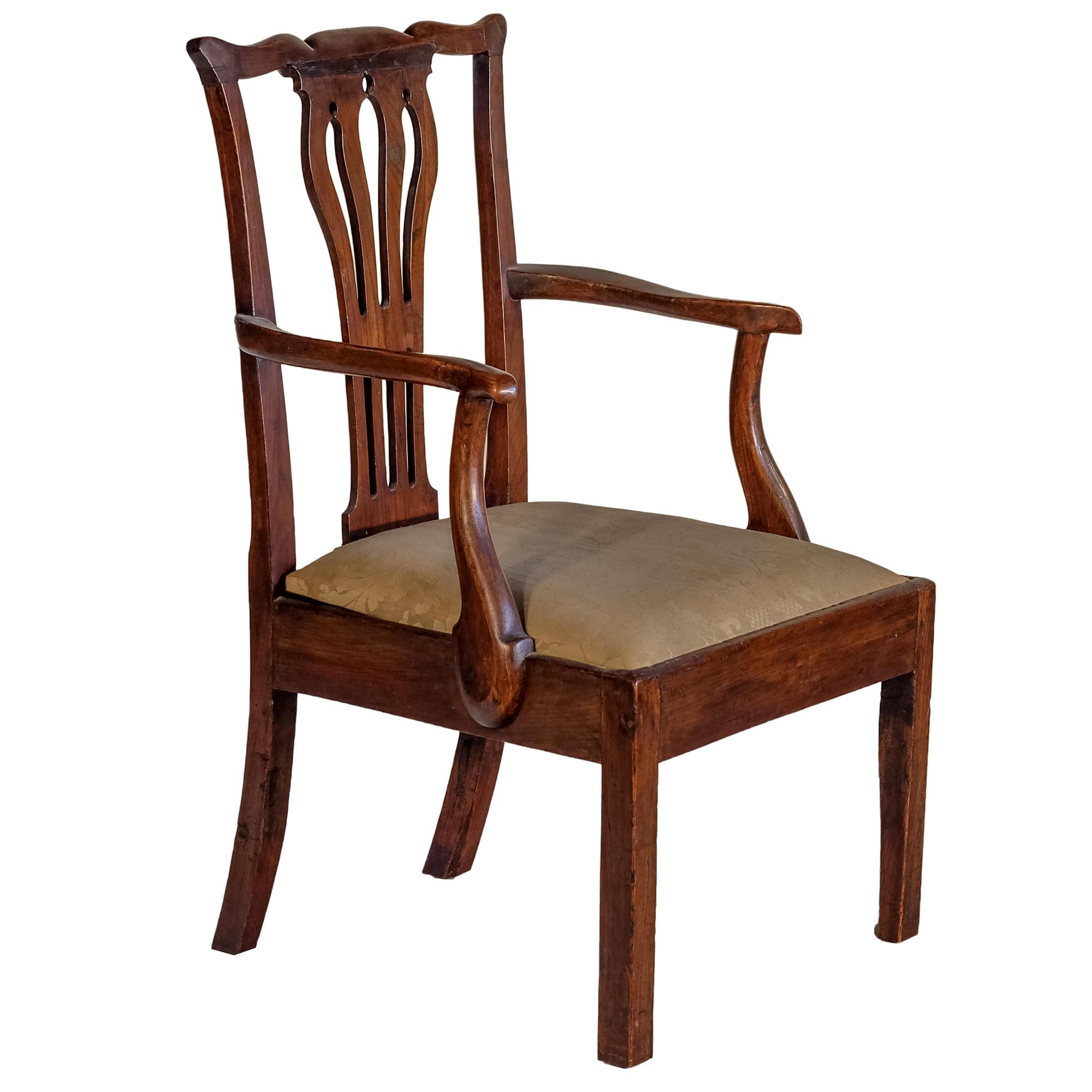 'George III Elm Elbow Chair Circa 1800'