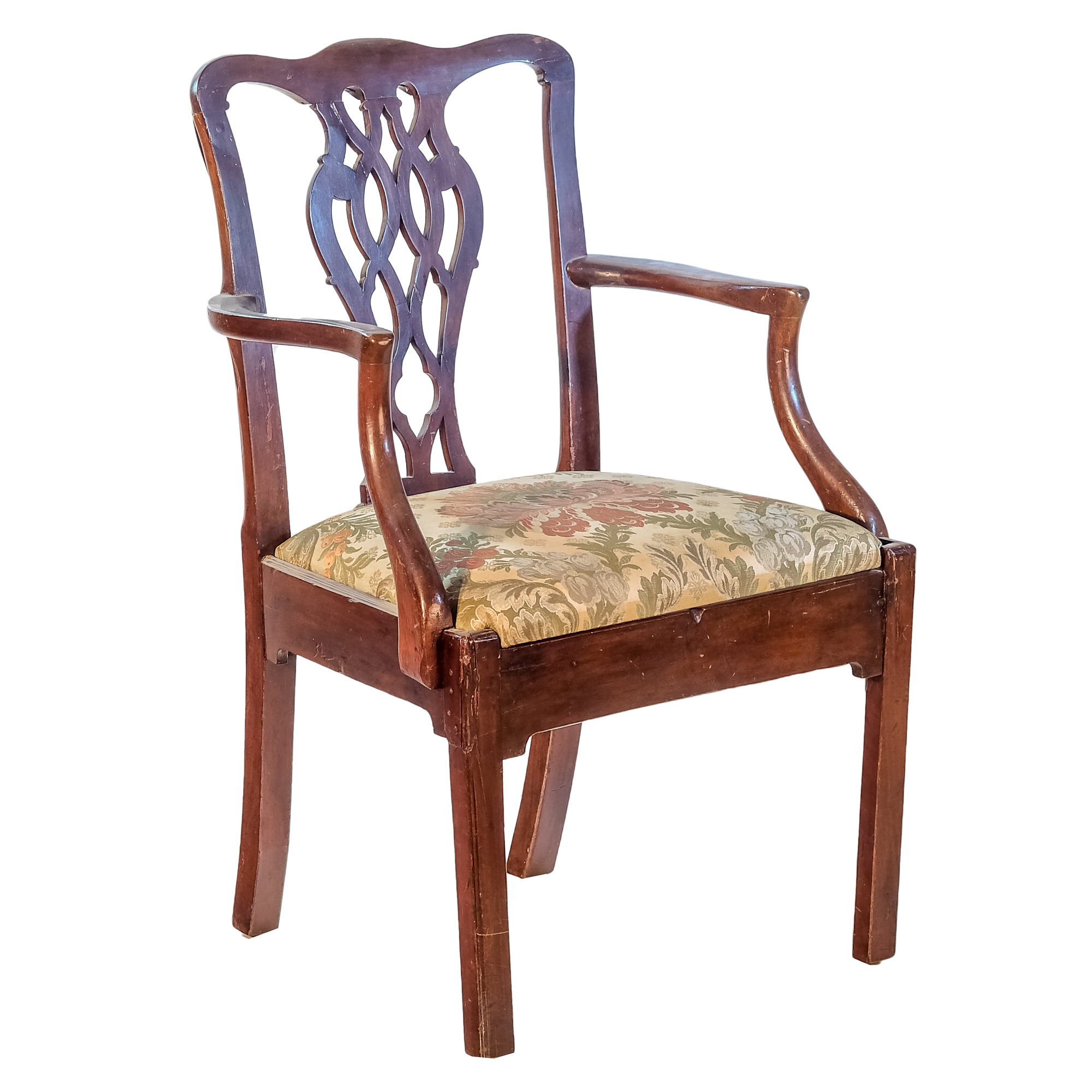'Chippendale Style Carved Mahogany Elbow Chair 19th Century or Earlier'
