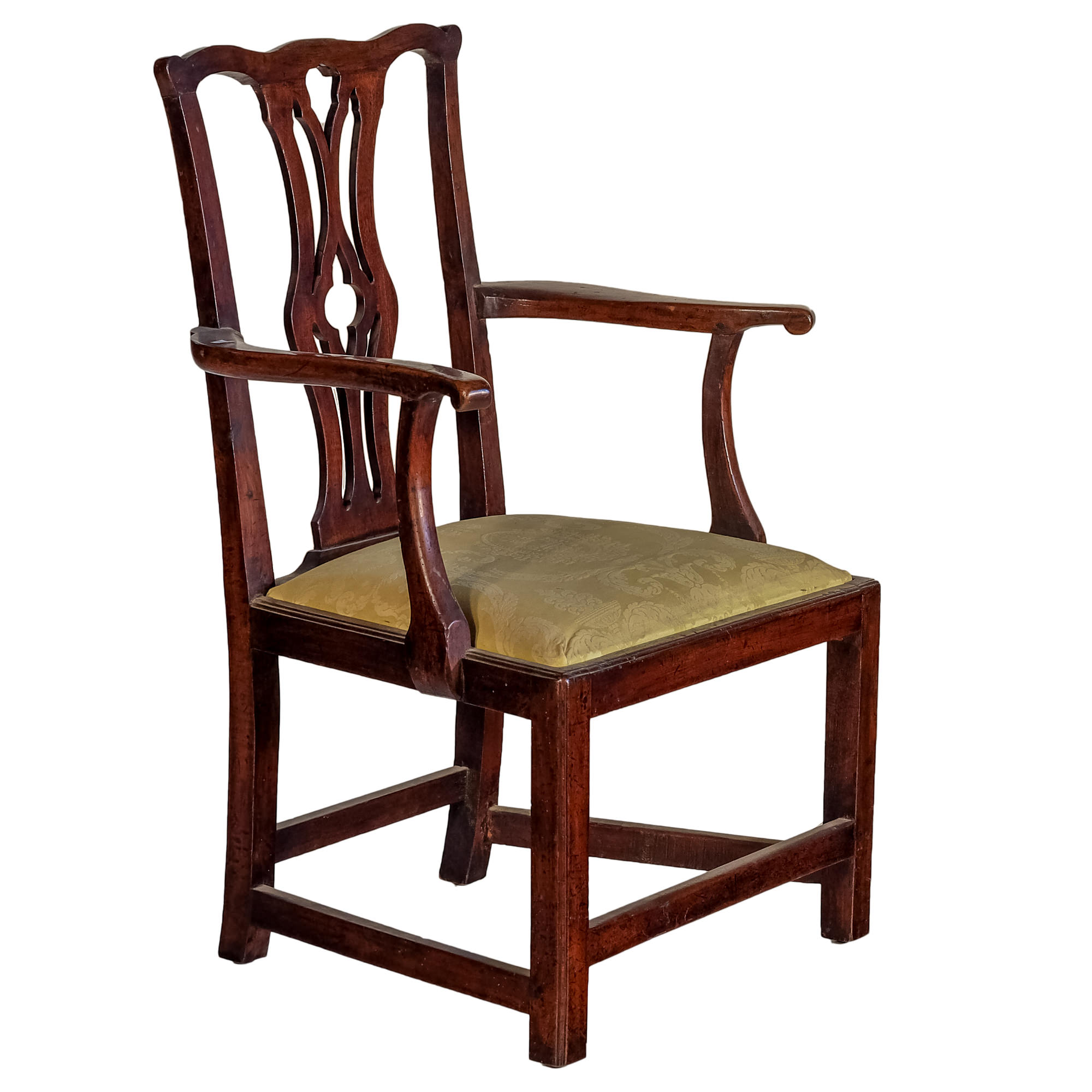 'George III Chippendale Mahogany Elbow Chair Circa 1780'