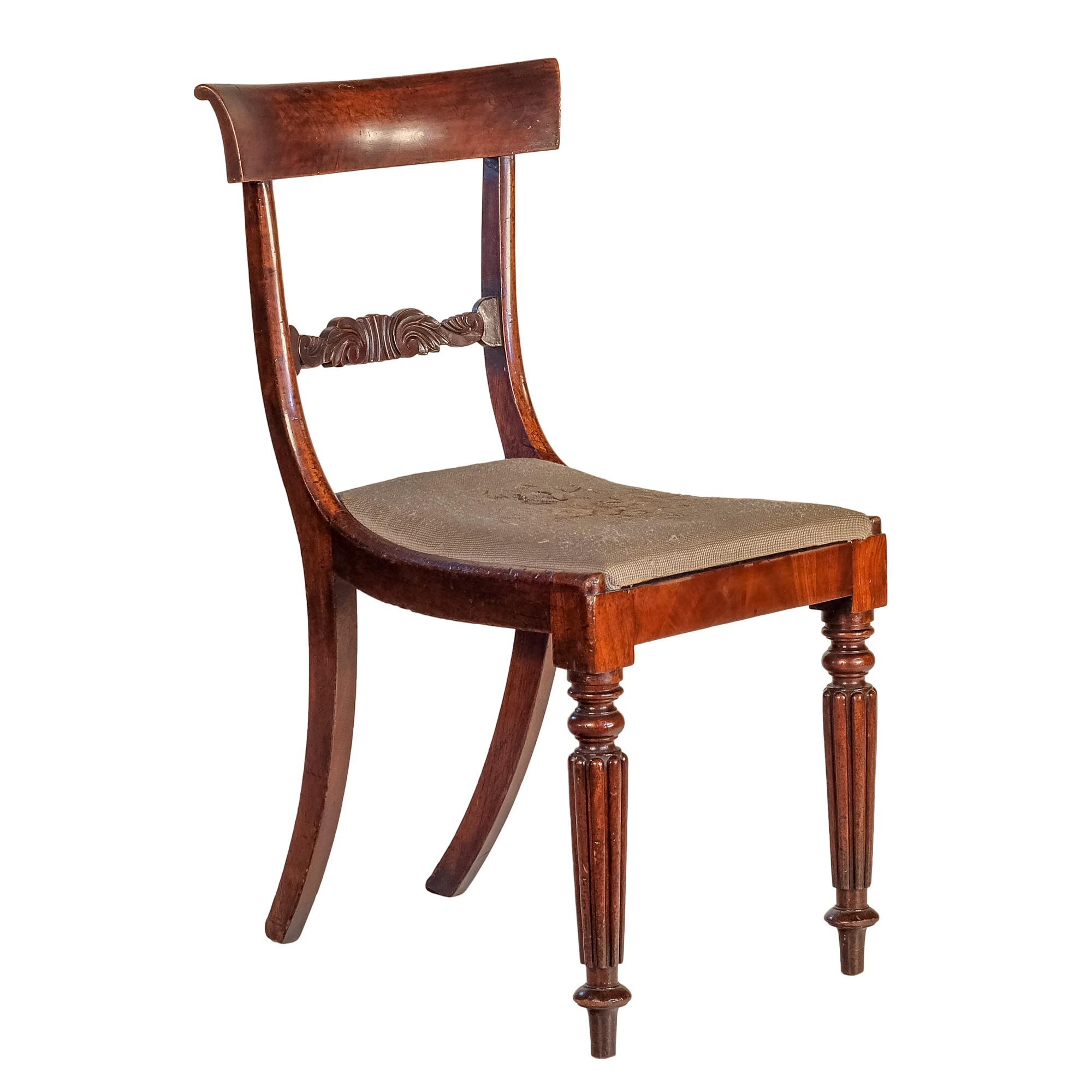 'William IV Mahogany Dining Chair Circa 1835'