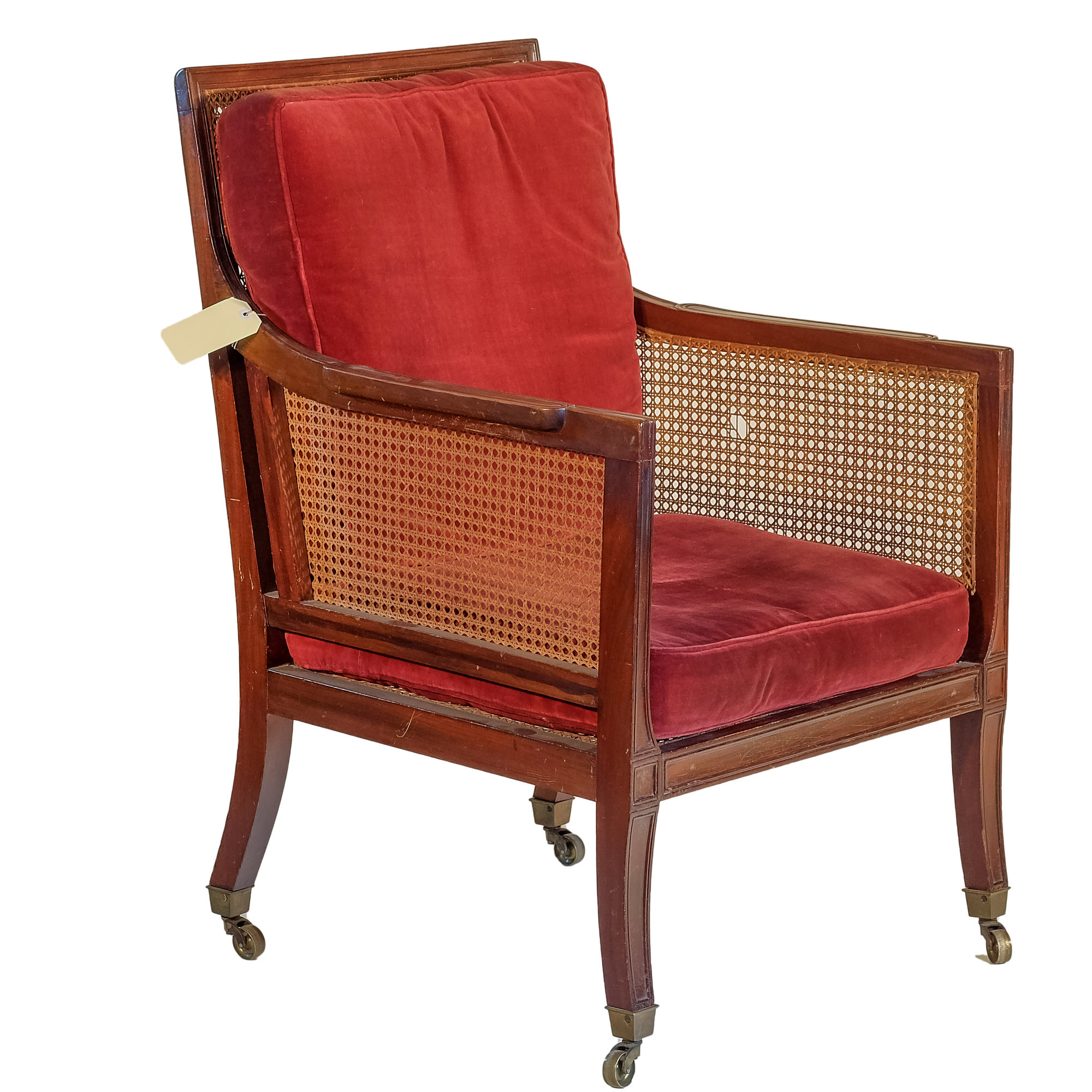 'Regency Period Caned Mahogany Drawing Room Chair Circa 1815'