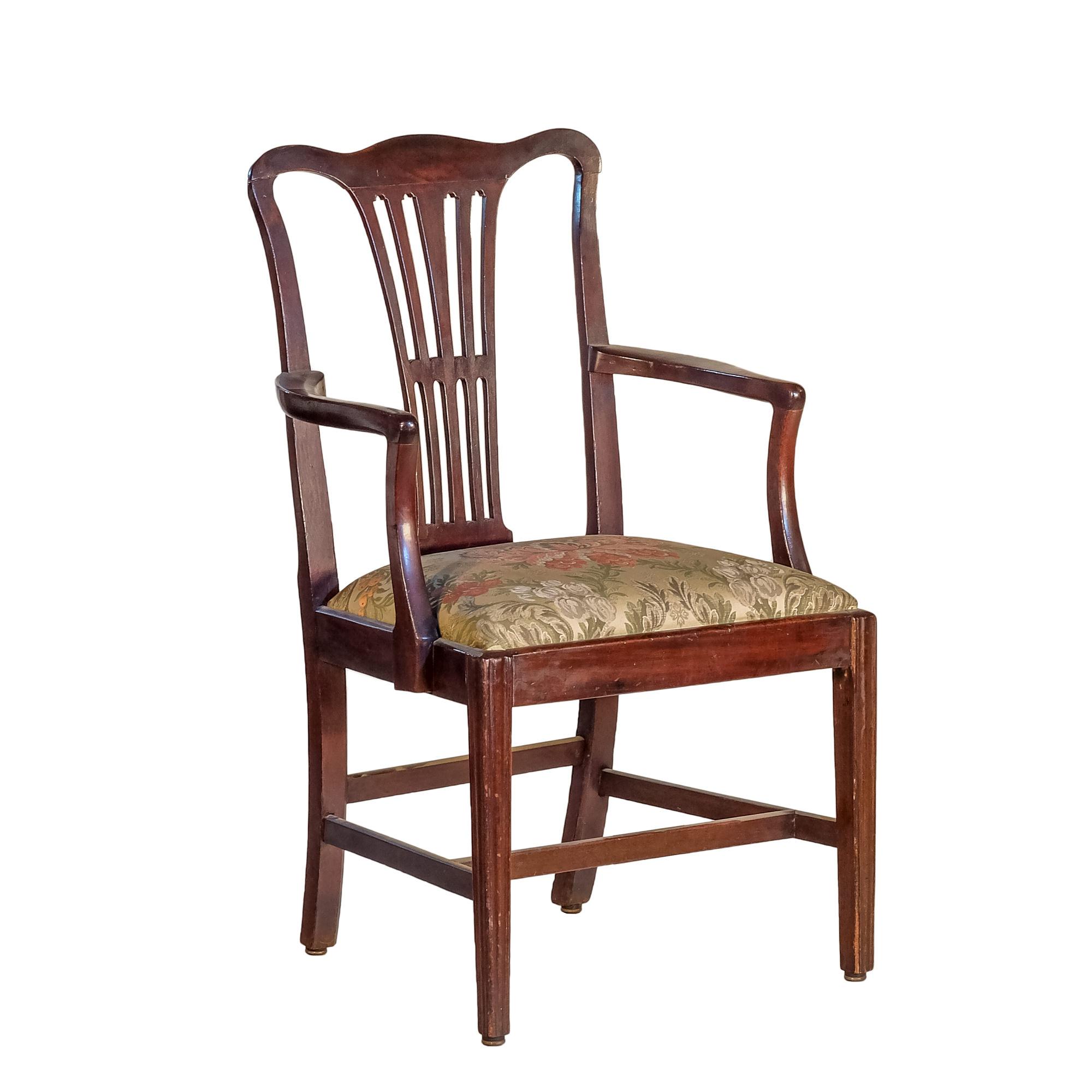 'Georgian Style Mahogany Elbow Chair 19th Century or Earlier'