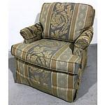 Drexel Heritage Brocade Upholstered Armchair