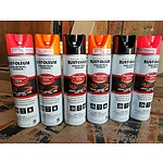 Lot of 6 Brand New Mixed Spray Paint Cans RUST-OLEUM