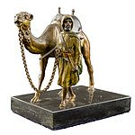 Cold Painted Vienna Bronze Camel Leader Attributed to Franz Bergman