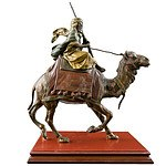 Cold Painted Vienna Bronze Camel Rider Attributed to Franz Bergman