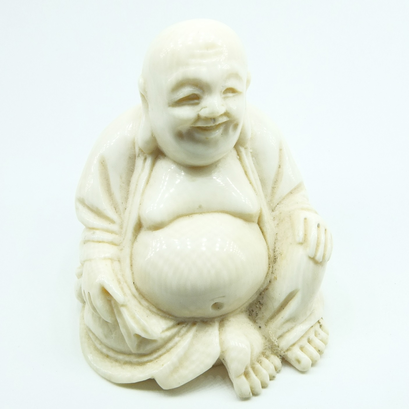 'Small Ivory Carving of Buddha Early to Mid 20th Century'