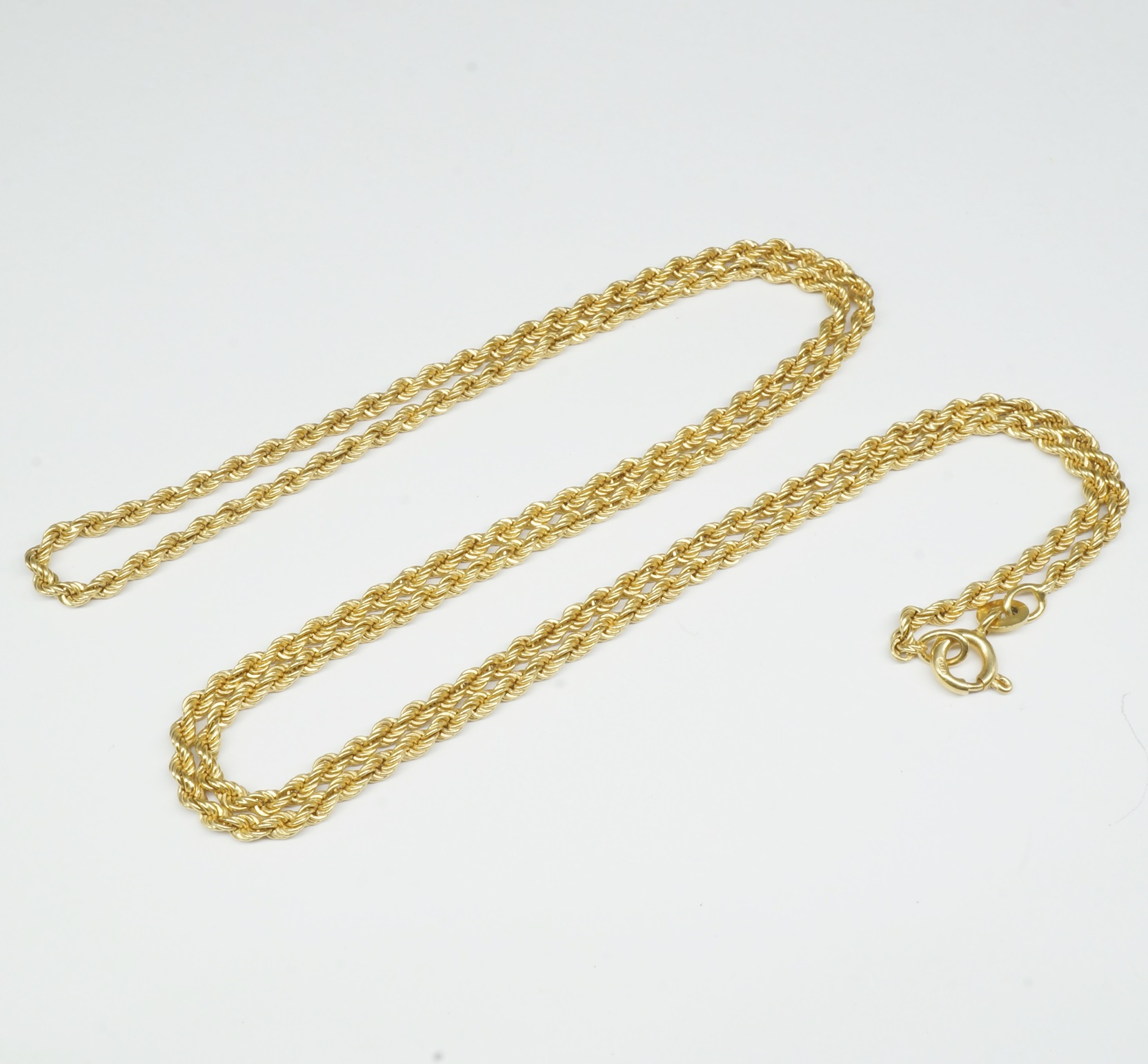 '18ct Yellow Gold Twisted Rope Chain'