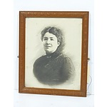 Antique Hand Coloured Photograph of a Woman