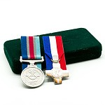 Regular Service Medal and Sterling Silver General Service Medal