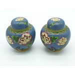 Two Chinese Cloisonne Lidded Jars