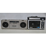 General Electric Superadio and Pioneer FM/AM Stereo Radio Cassette