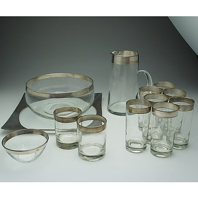 Contemporary Water Pitcher and Glass Set and more