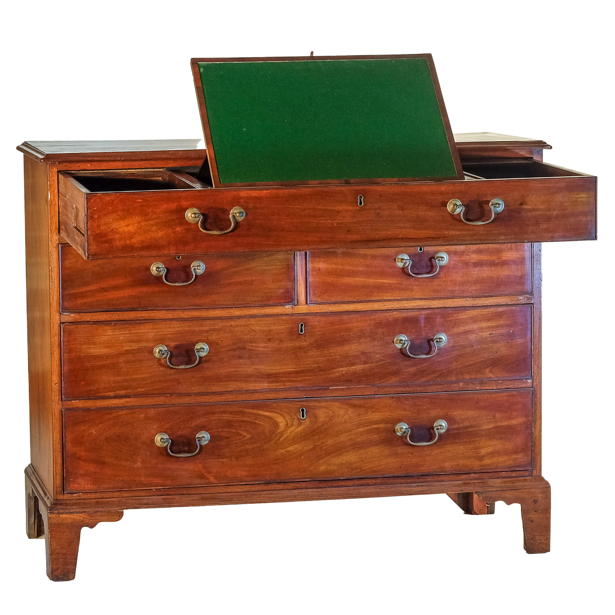 'George III Mahogany Bachelors Writing Chest with Lectern Circa 1780'