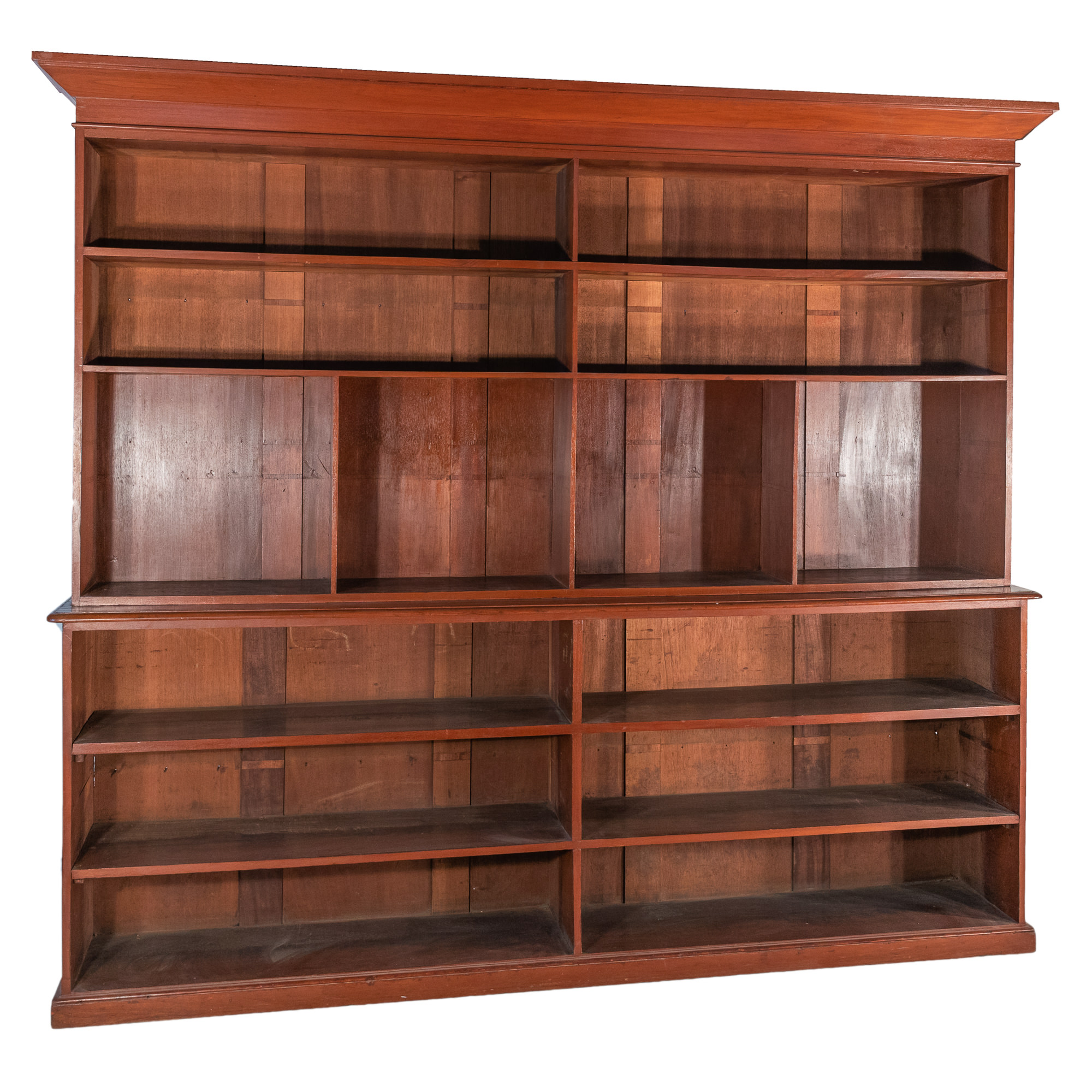 'Substantial Australian Red Cedar Open Bookcase 19th Century'