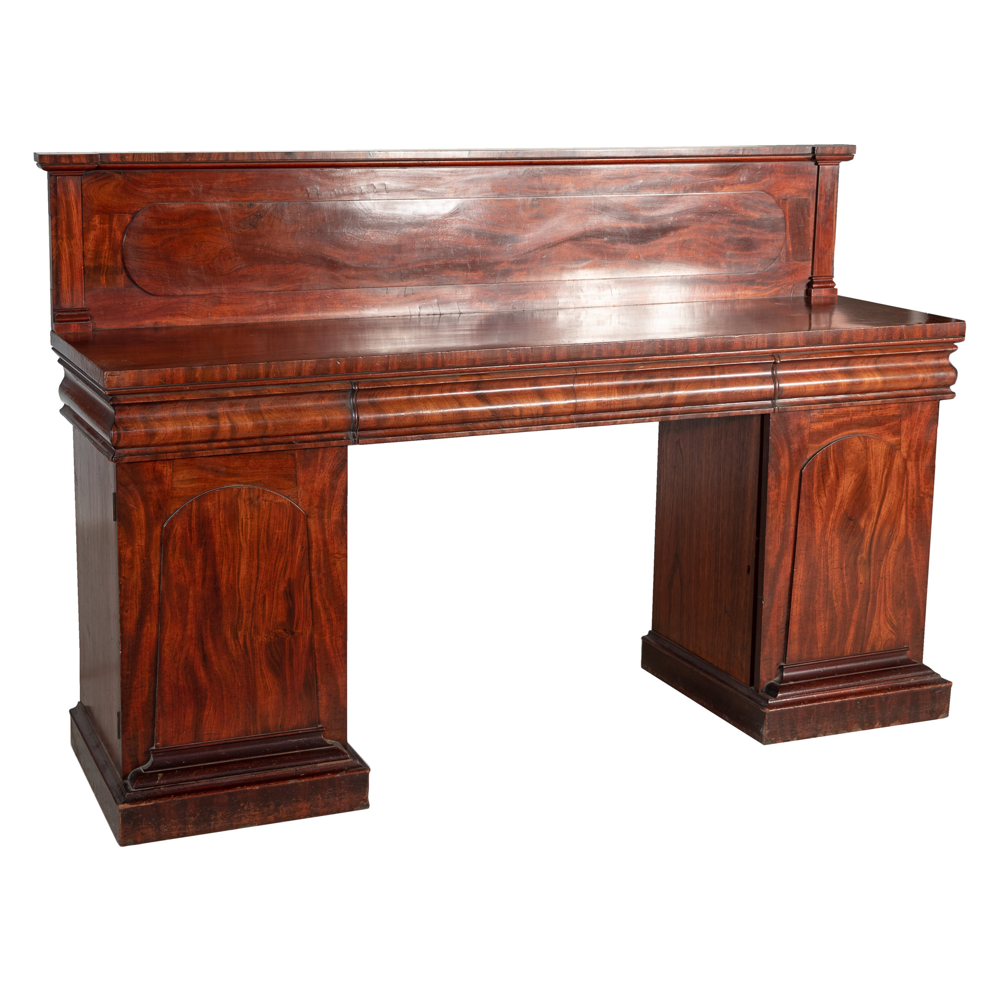 'Australian Cedar Pedestal Sideboard Circa Probably Tasmanian 1850'